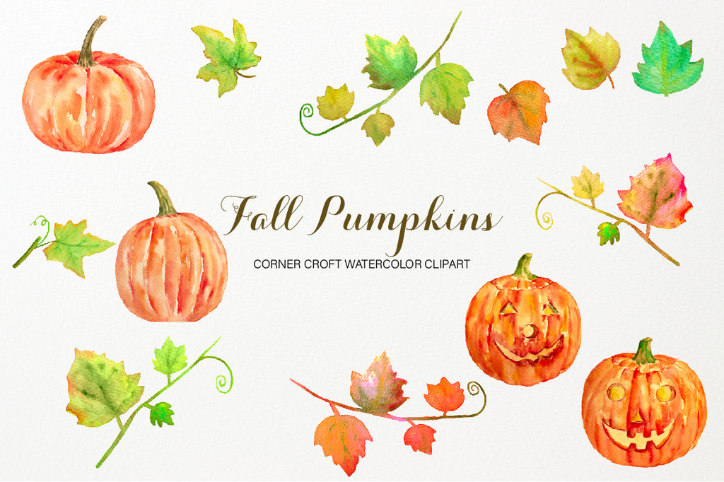 Watercolor pumpkin clipart, free download
