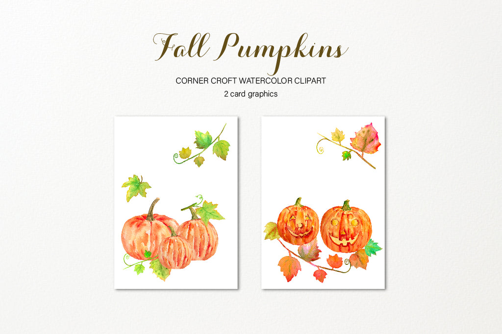 watercolor pumpkin card, thanksgiving, halloween