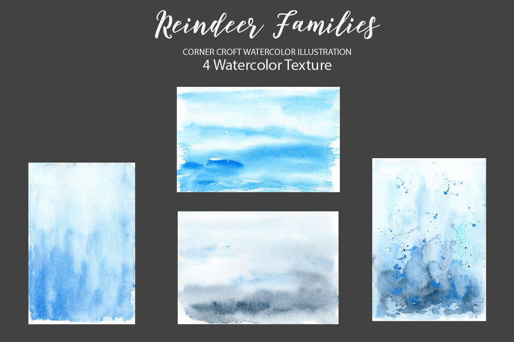 watercolor texture, blue and grey texture