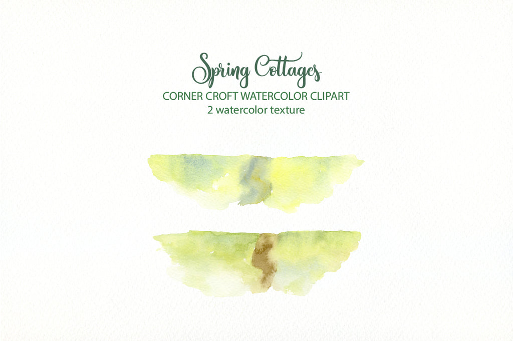watercolor clipart sprign cottage, watercolor texture