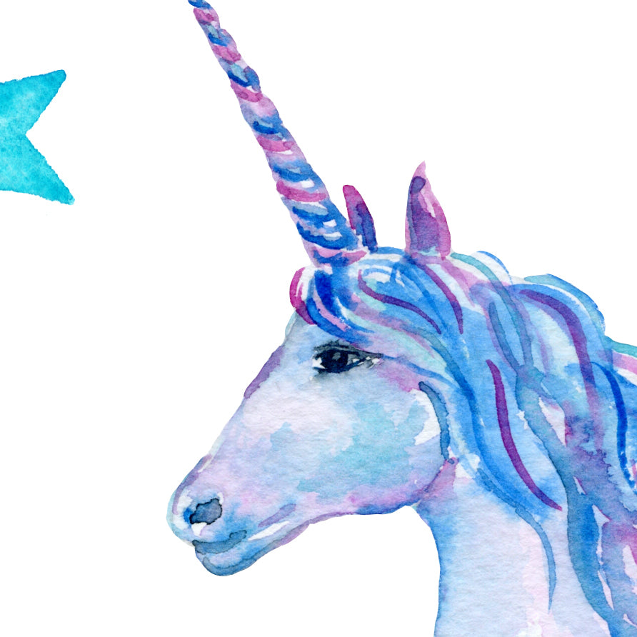 watercolour unicorn print printable