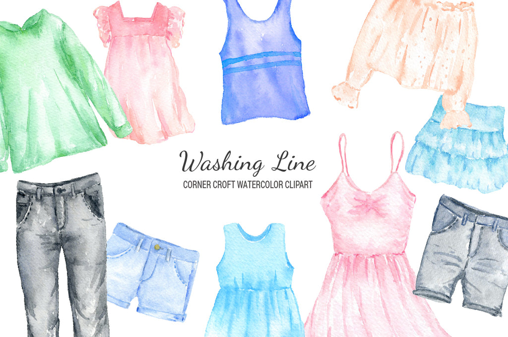 watercolor fashion illustration, detailed watercolor clipart