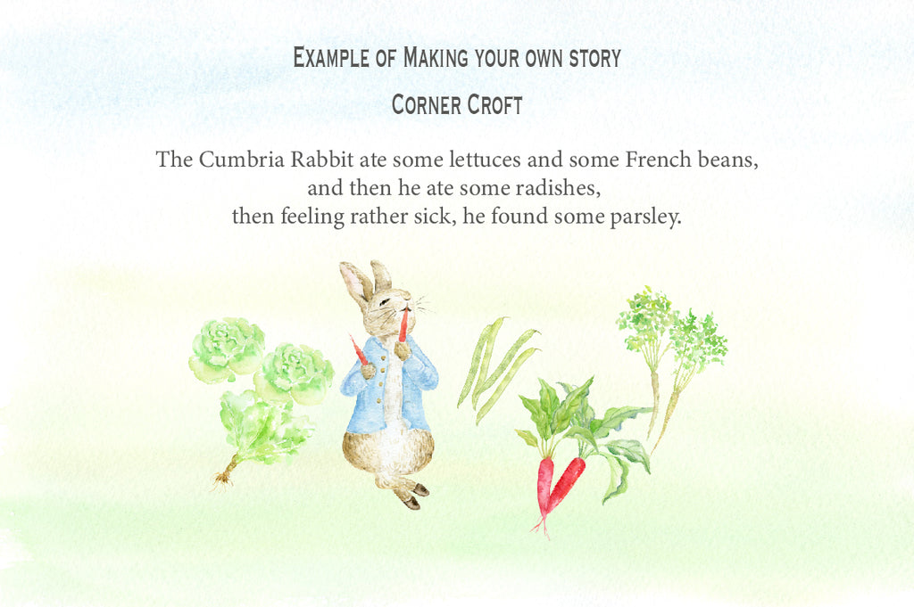 Create your own illustrated story with this rabbit clipart
