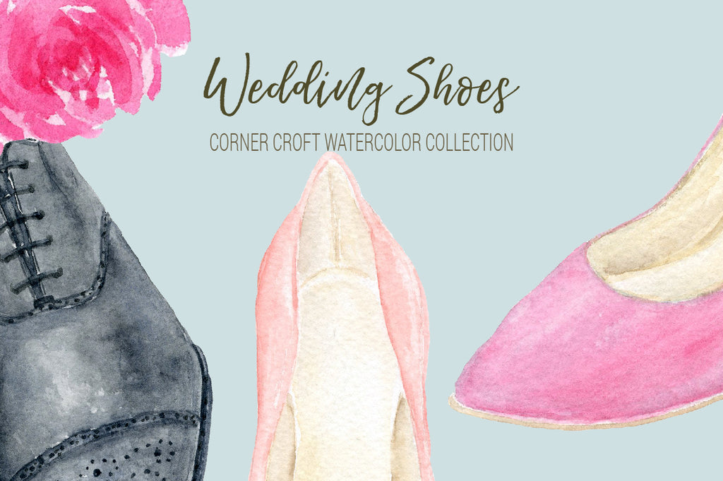 wedding shoes for groom, wedding shoes for bride, shoe illustration