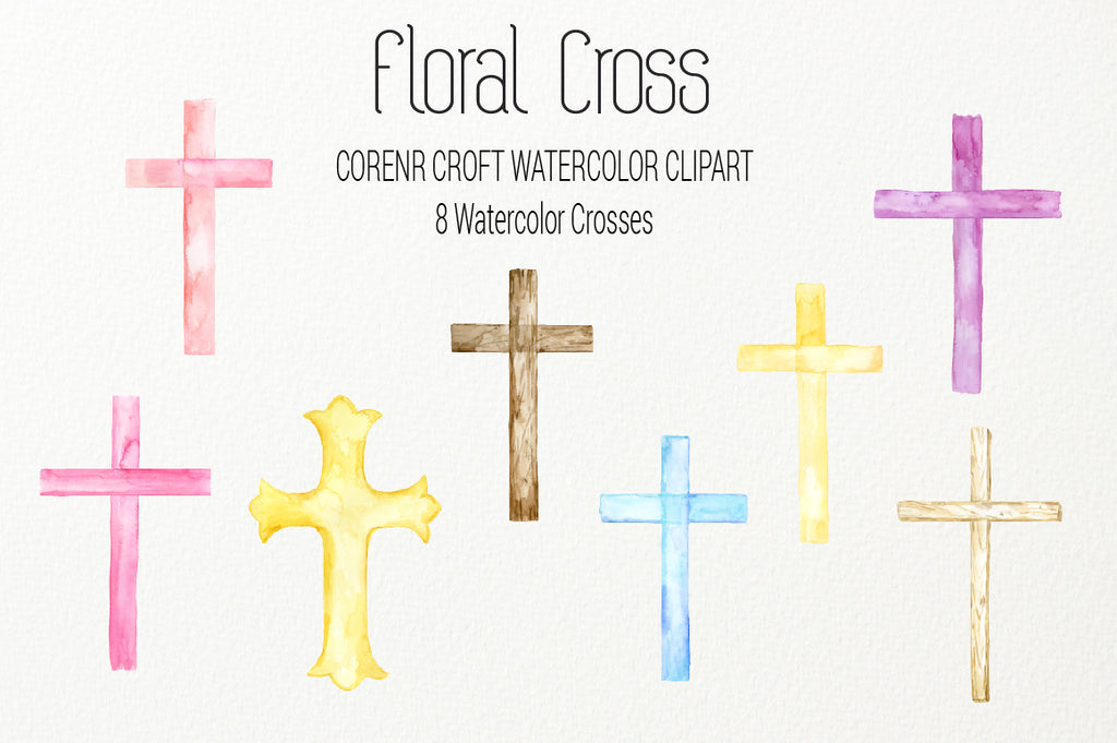 watercolor wood cross, metal cross, watercolor cross, cross instant download