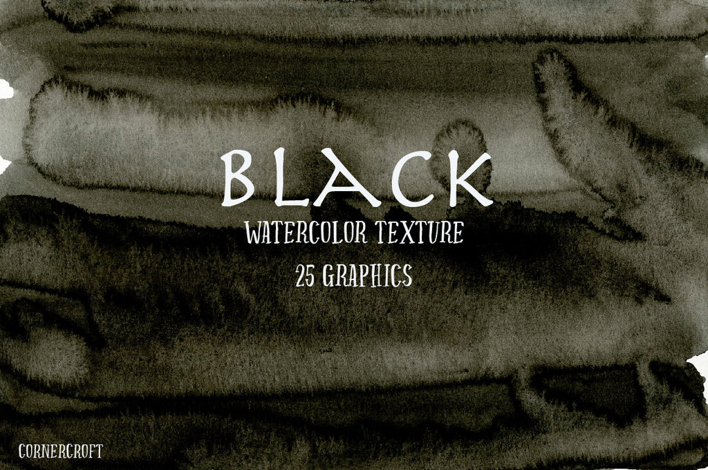 watercolor texture black, instant download