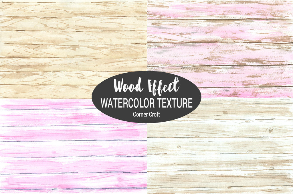 watercolor background, watercolor texture, pink, natural wood, digital paper, watercolour wood paint.