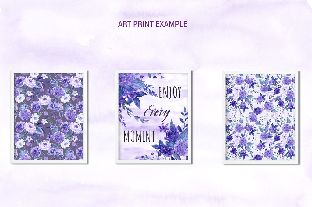 watercolour collection ultra violet, art print, wedding invitations