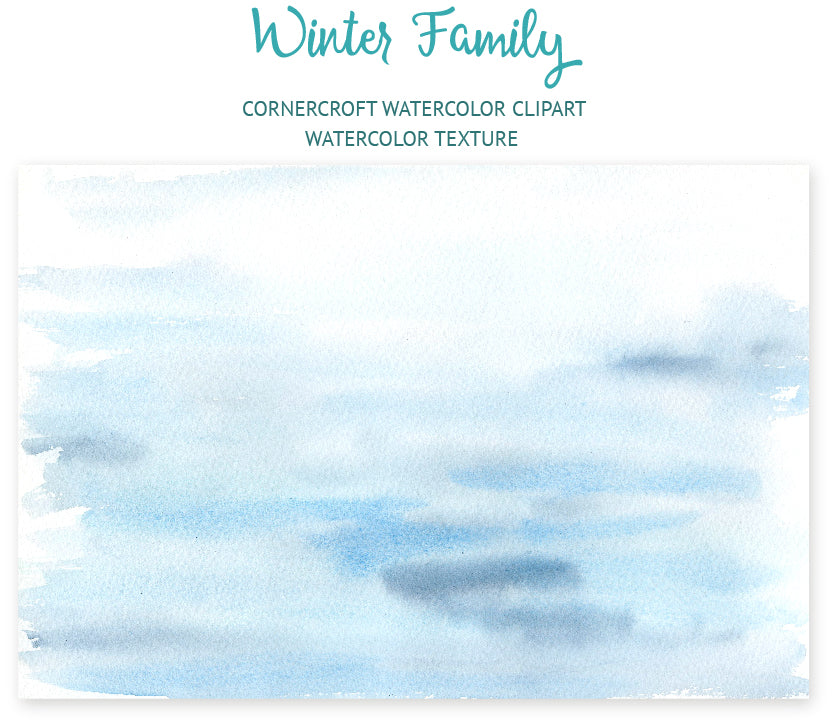 watercolor clipart winter family, watercolor texture