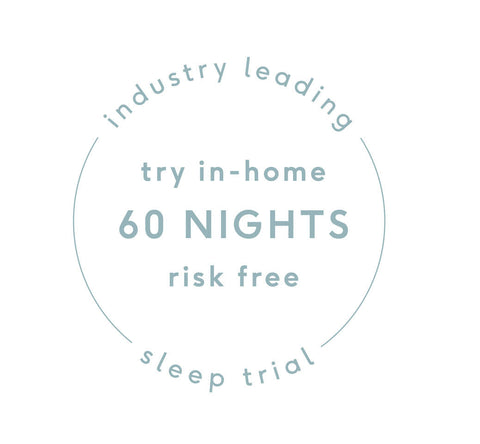 industry leading sleep trial. Try in-home 60 nights risk free