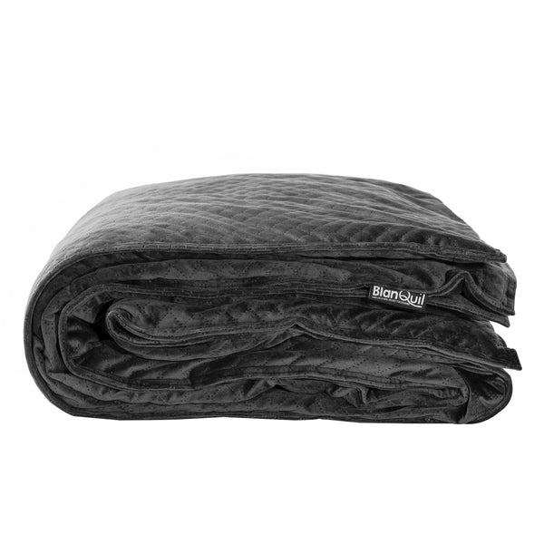 Charcoal BlanQuil Quilted Weighted Blanket