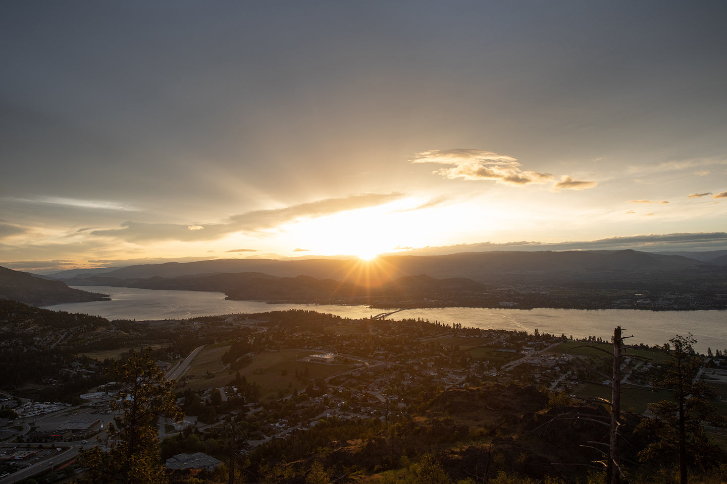 Sunrise over Kelowna