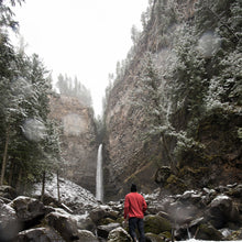 Finding the bottom of Spahat Falls