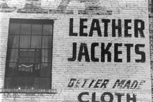 Leather Jackets Building Sign - Winnipeg 1990