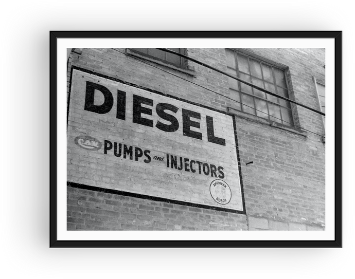 Diesel Pumps Building Sign - Winnipeg 1990
