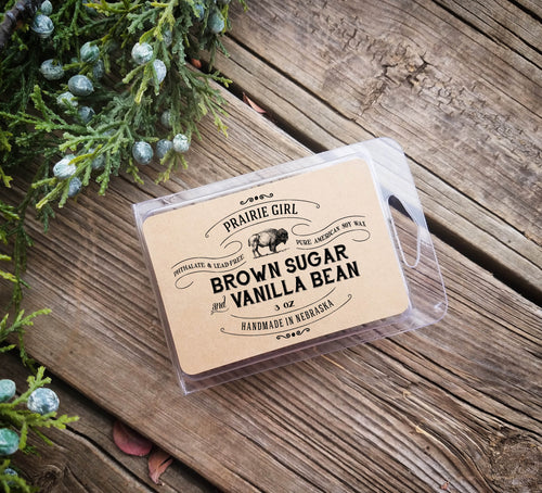 Brown Sugar & Vanilla Bean Melt - Prairie Girl Candle Co