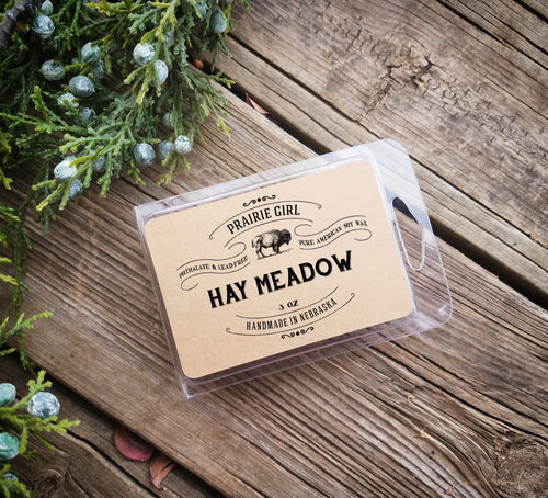 Hay Meadow Melt - Prairie Girl Candle Co