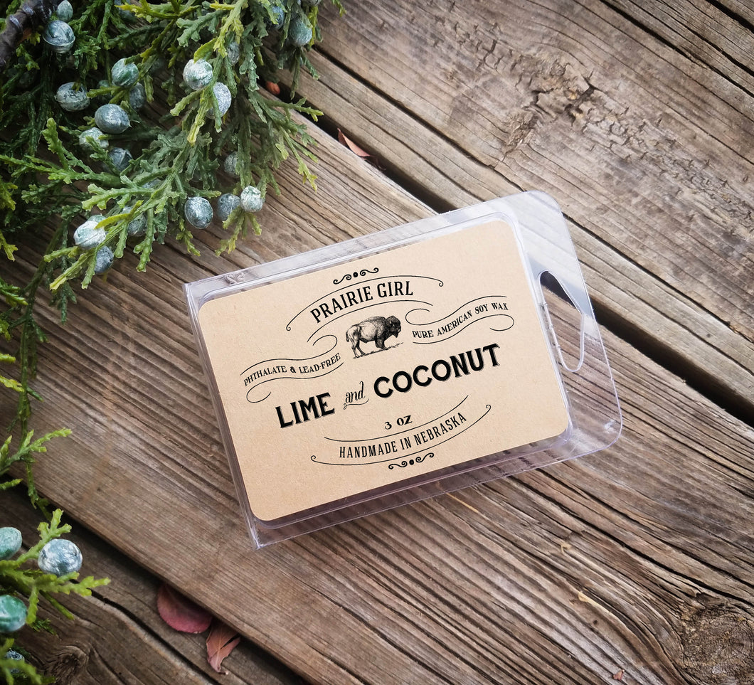 Lime & Coconut Melt - Prairie Girl Candle Co