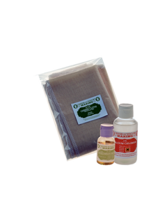 ECONOMY CHEESE KIT 3- LIQUID RENNET (CHOOSE ANIMAL OR VEGETABLE), CHEESE CLOTH, CALCIUM CHLORIDE 4OZ