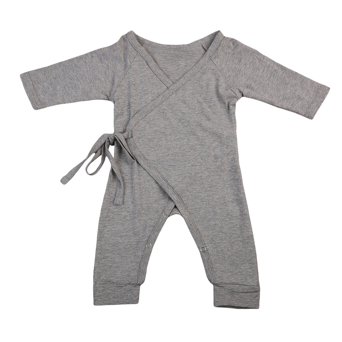 Asher Long Sleeve Gender Neutral Cotton Romper