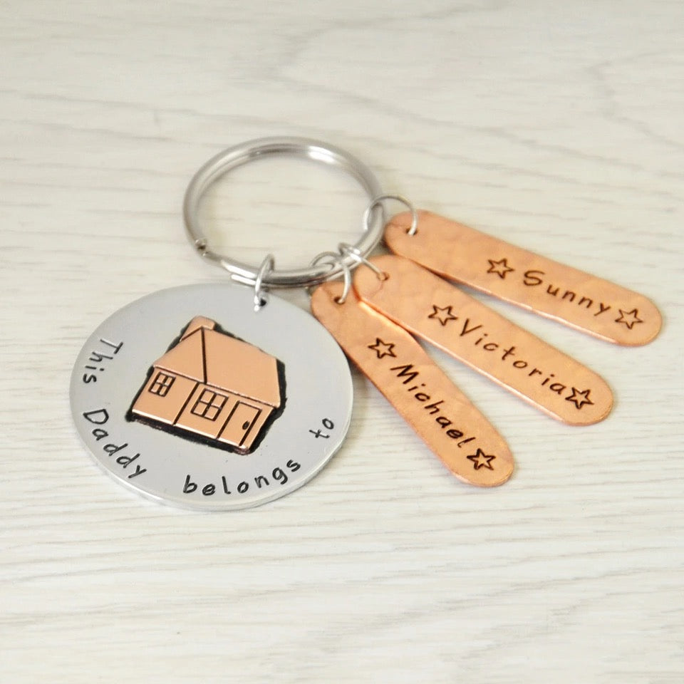 "Personalized ""This Daddy Belongs to"" Keychain"