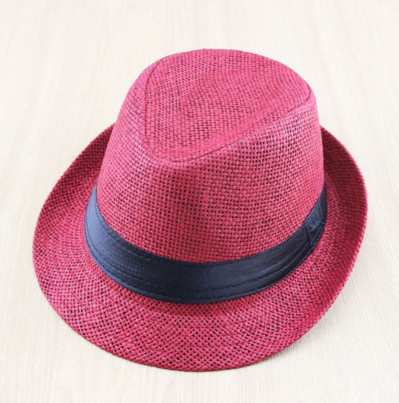 Straw Sunhat Fedora (many colors)