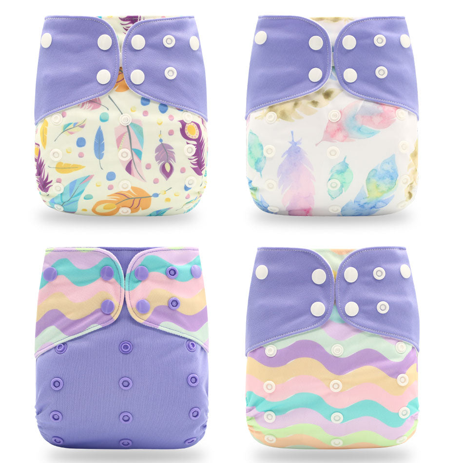 NEW Designs! - Spring Cloth Diapers - 4 pack - Boys & Girls
