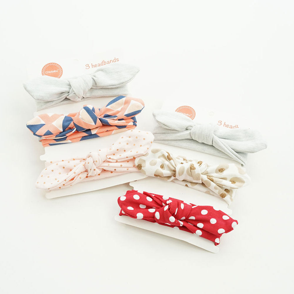 Dots and Deco Headband Sets (of 3)