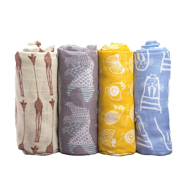 Marley X-large Bamboo & Muslin Cotton Baby Swaddle