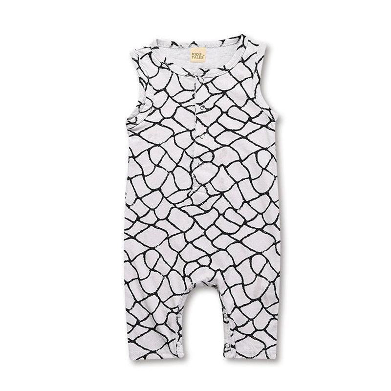 Rad Plaid Baby Boy Sleeveless Rompers/Jumpsuits - Nb-24M