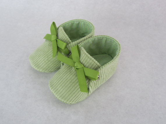 Little Slippers Baby Booties - Lime Green
