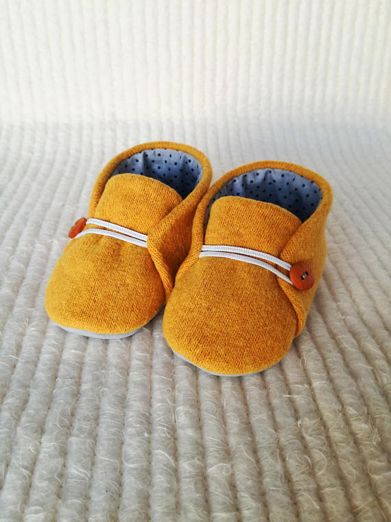 Little Slippers Baby Booties - Marigold
