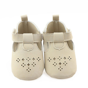 Girls PU Leather Crib Shoes