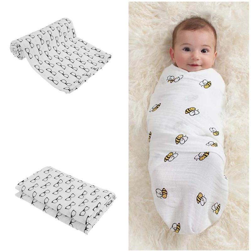 Jerry Muslin Cotton Baby Swaddle 47in x 47in