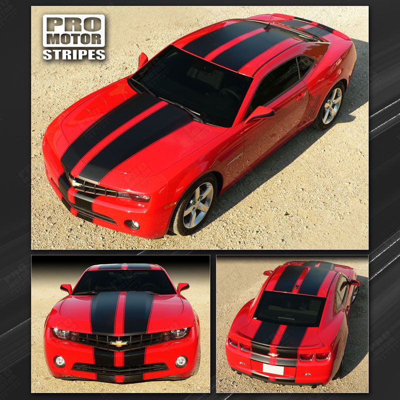 2010 2011 2012 2013 Chevrolet Camaro hood  trunk  bumper  roof Decals Stripes 152588443111-1