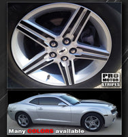 "Chevrolet Camaro 2010-2015 - 18"" Wheels Insert Overlay Stripes Auto Decals - Pro Motor Stripes"