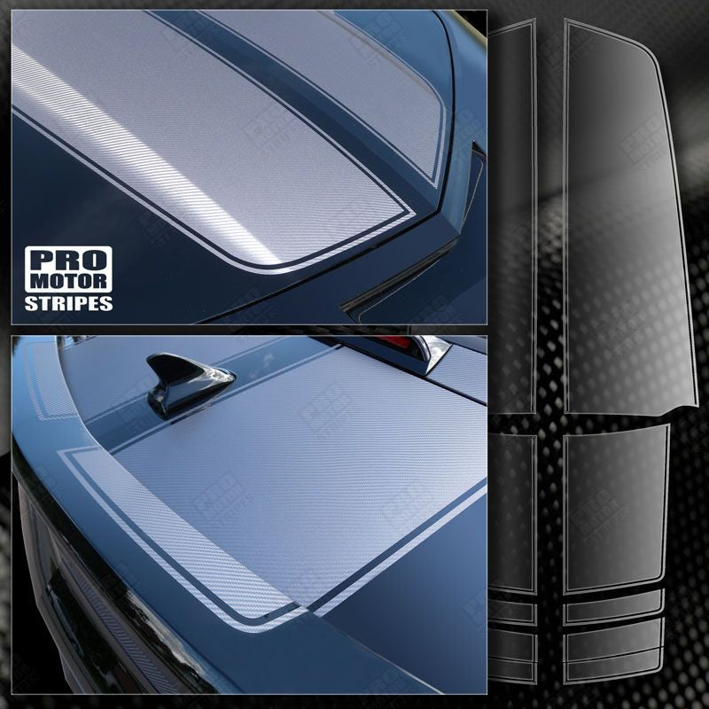 2010 2011 2012 2013 2014 2015 Chevrolet Camaro hood  trunk Decals Stripes 152588443061-1