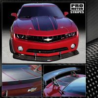 2010 2011 2012 2013 2014 2015 Chevrolet Camaro hood  trunk Decals Stripes 152588442995-1
