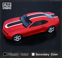 2010 2011 2012 2013 2014 2015 Chevrolet Camaro hood  trunk  roof Decals Stripes 122551579973-2