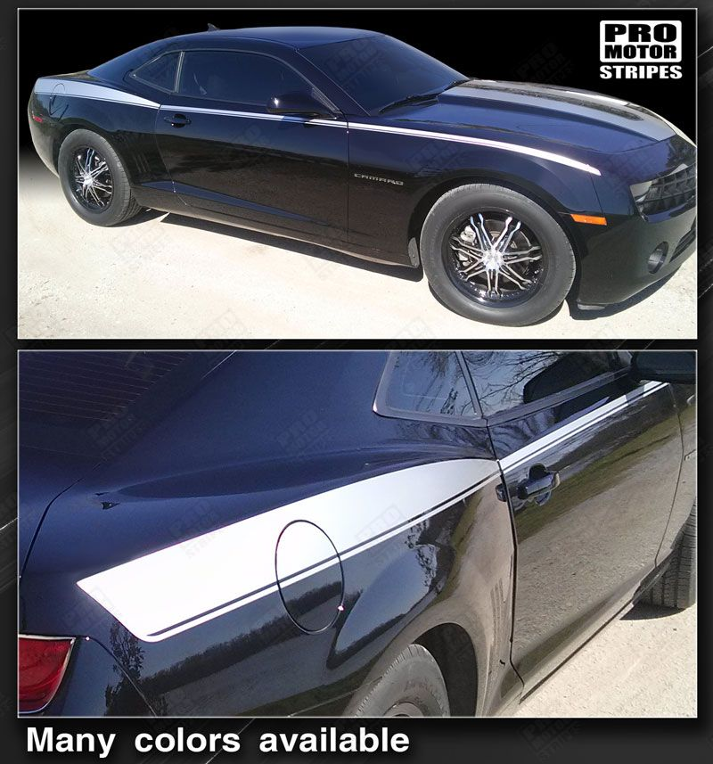 2010 2011 2012 2013 2014 2015 Chevrolet Camaro side  door Decals Stripes 122551589093-1