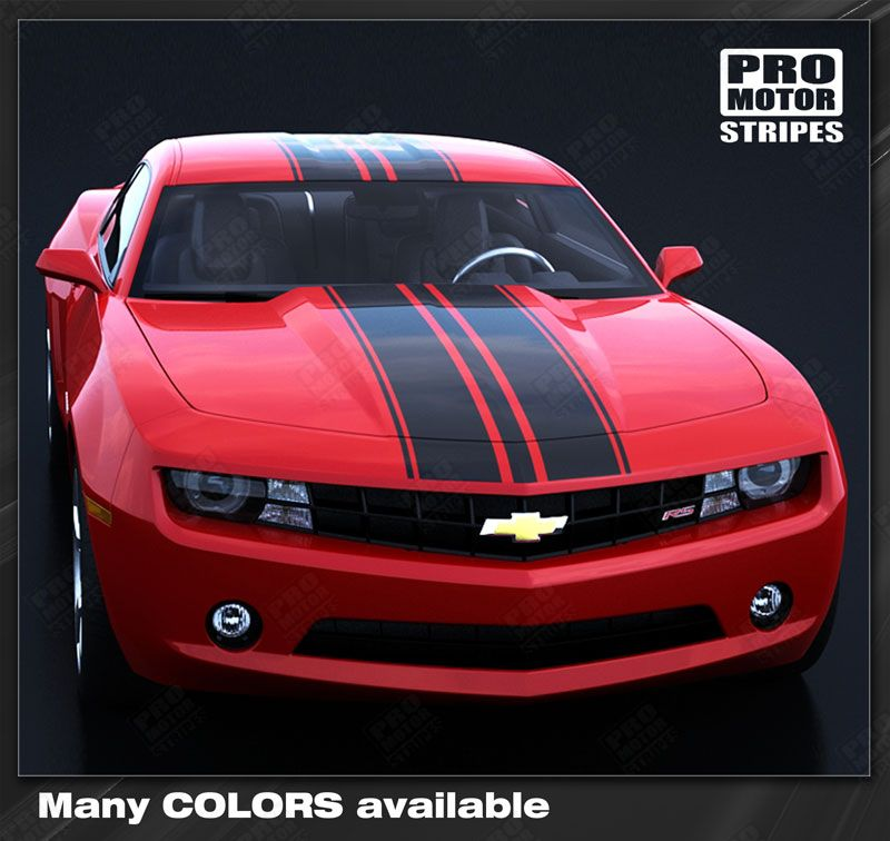 2010 2011 2012 2013 2014 2015 Chevrolet Camaro hood  trunk  roof Decals Stripes 152588443112-1