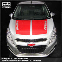 Chevrolet Spark 2013-2015 Hood Accent Stripes