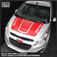 Chevrolet Spark 2013-2015 Hood Stripes with Center Accent