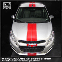 Chevrolet Spark 2013-2015 Over-The-Top Double Center Stripes
