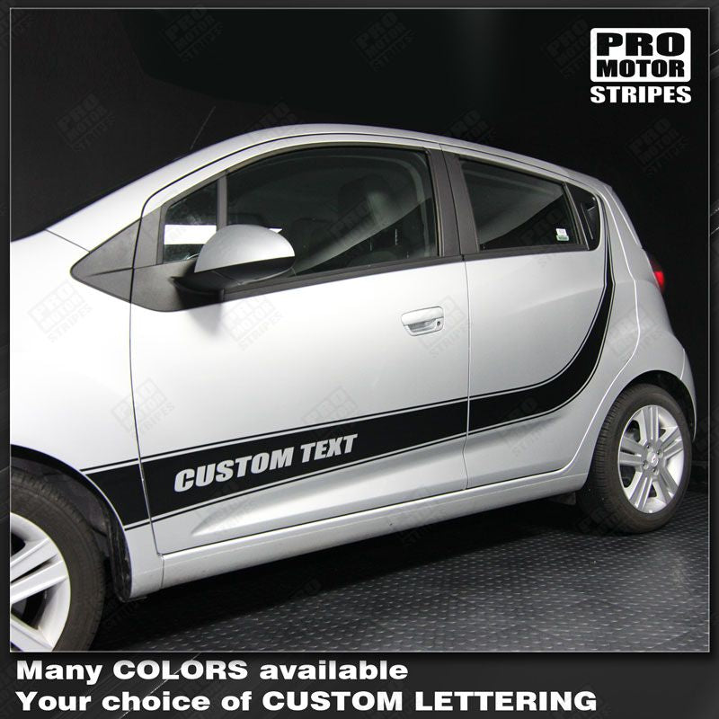 2013 2014 2015 Chevrolet Spark side  door  rocker panel Decals Stripes 122551589882-1