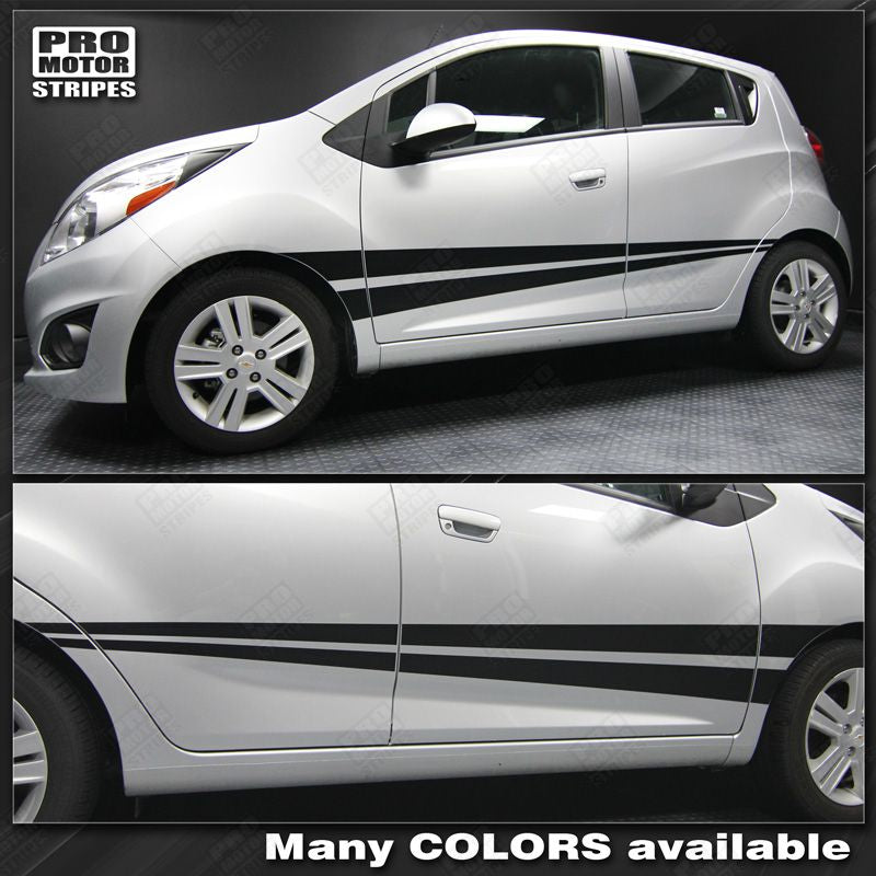2013 2014 2015 Chevrolet Spark side  door  rocker panel Decals Stripes 122551590412-1