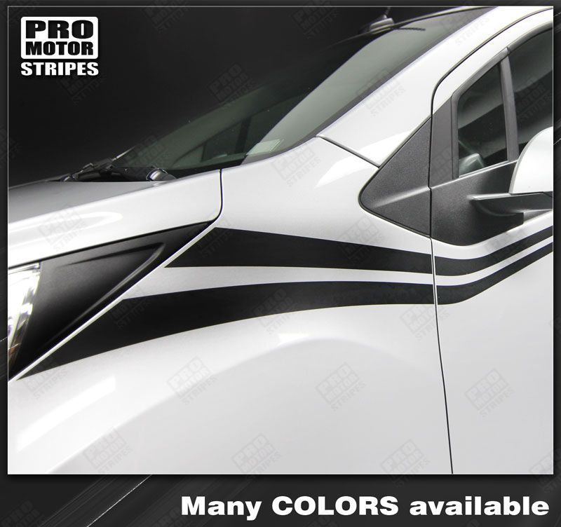 2013 2014 2015 Chevrolet Spark side  door Decals Stripes 132229429465-1