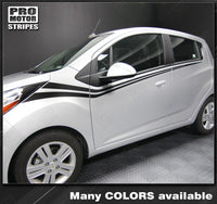 2013 2014 2015 Chevrolet Spark side  door Decals Stripes 132229429465-2