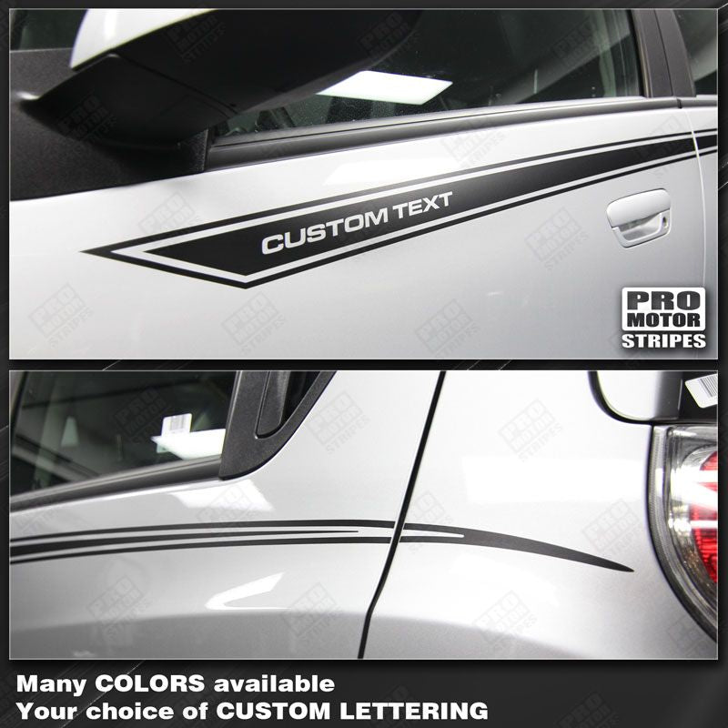 2013 2014 2015 Chevrolet Spark side  door Decals Stripes 132258683770-1