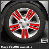 Chevrolet Spark 2013-2015 Wheel Rim Spokes Overlay Decals